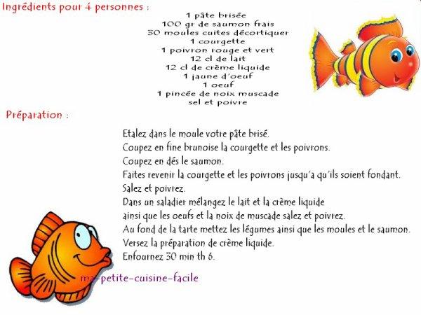 Quiche aux poissons et légumes