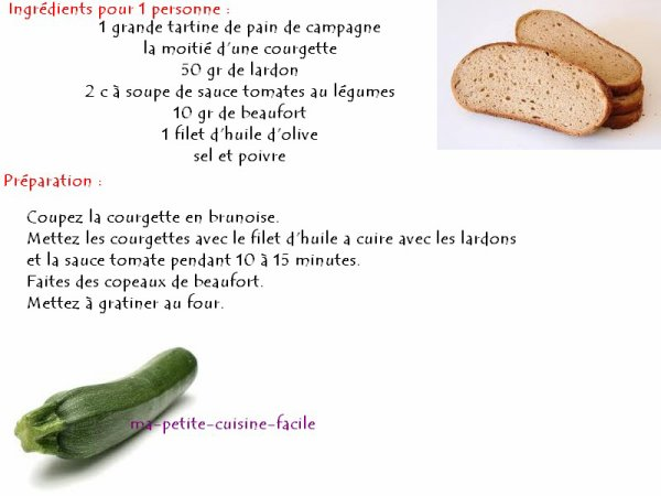 Tartine de courgette