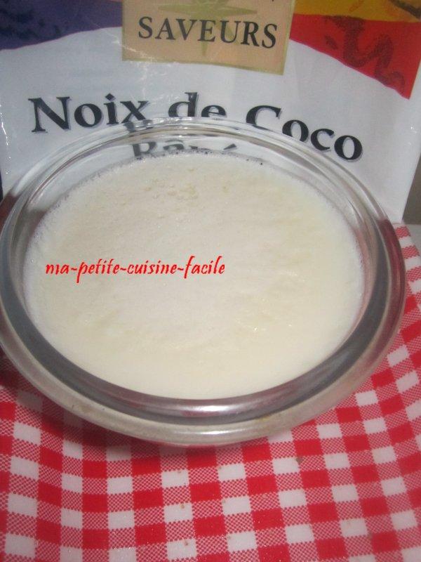 crème à la noix coco