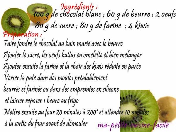 Moelleux au kiwi