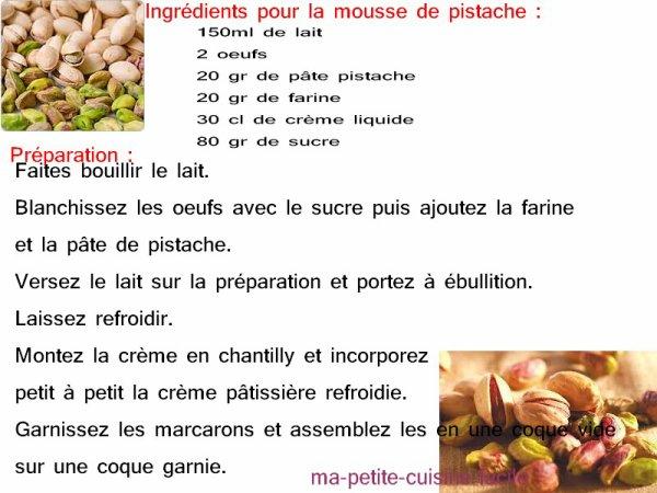 Macaron a la pistache