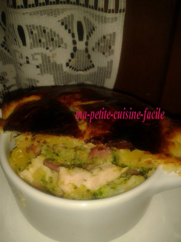 Tourte au poulet et brocolis