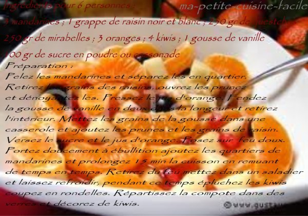 Compote de fruits d'automne