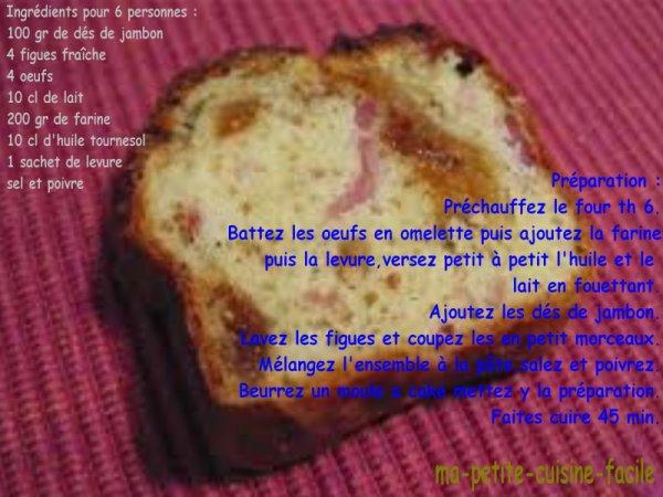 Cake au jambon et figues