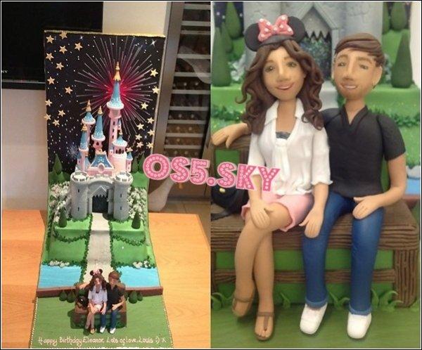 16 Juillet 2012, Eleanor Calder, la petite amie de Louis fête ses 20ans ! Happy Birthday. Voici le gâteau que Louis lui a offert.