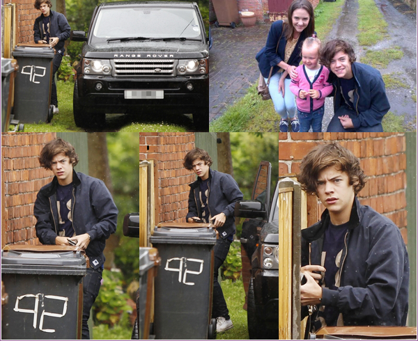 16/07/2012:Harry a été vu regagnant sa voiture a Holmes Chapel sa ville natal.