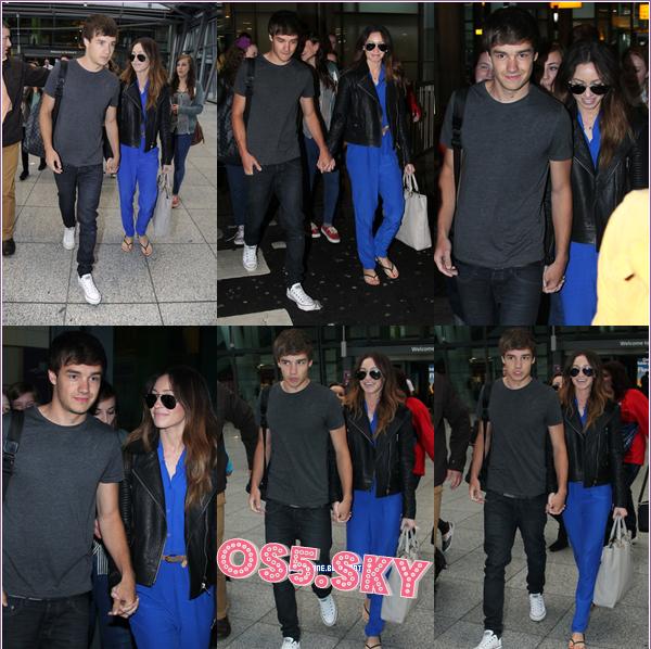 16/07/2012:Liam en compagnie de Danielle ont  été aperçu à l'aéroport de Heathrow à Londres, revenant de leur week-end en Italie.