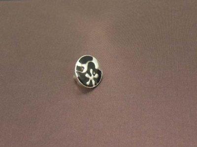 Bague réglable en métal argenté