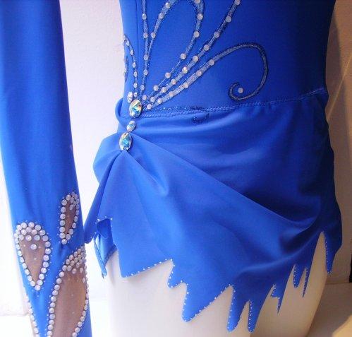 Justaucorps bleu électrique