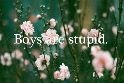 Les garçons sont des idiots; surtout celui qui m'a brisé le coeur.