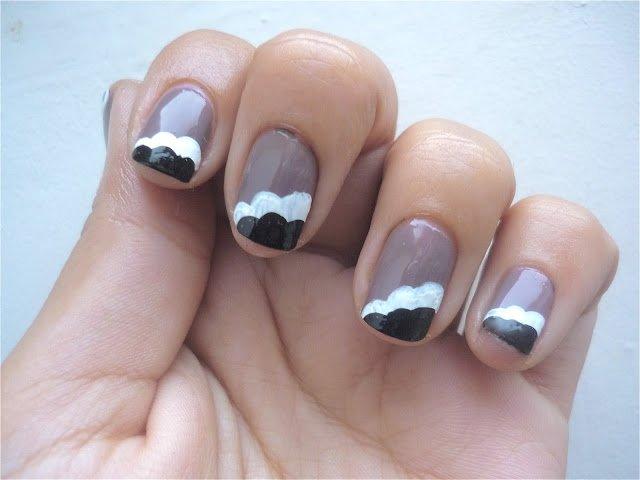 Nail Art nuage.