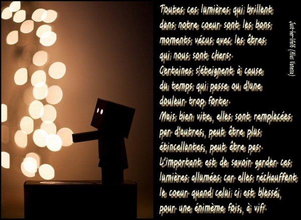 « Plus claire la lumière, plus sombre l'obscurité... Il est impossible d'apprécier correctement la lumière sans connaître les ténèbres. »  Sartre
