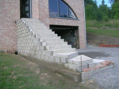 Escalier nouvelle construction for Construction escalier exterieur beton