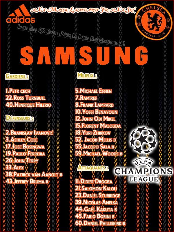 ♥ Chelsea Nome Son équipe Pour la Champions League 2010/2011 ! ♥
