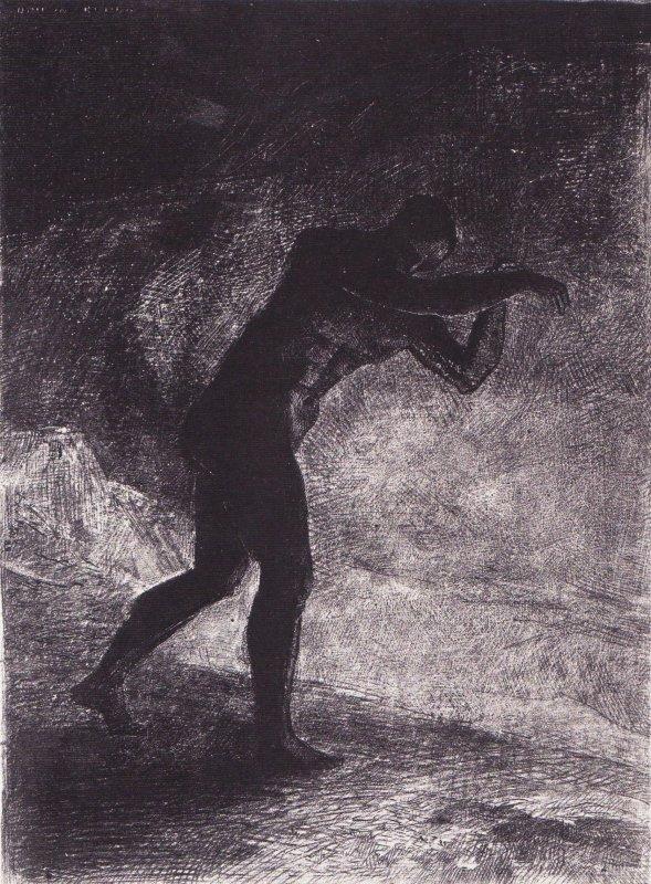 Et l'homme parut, interrogeant le sol d'où il sort et qui l'attire, il se fraya la voie vers de sombres clartés.
