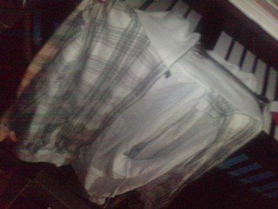 veste blanche grise taille L