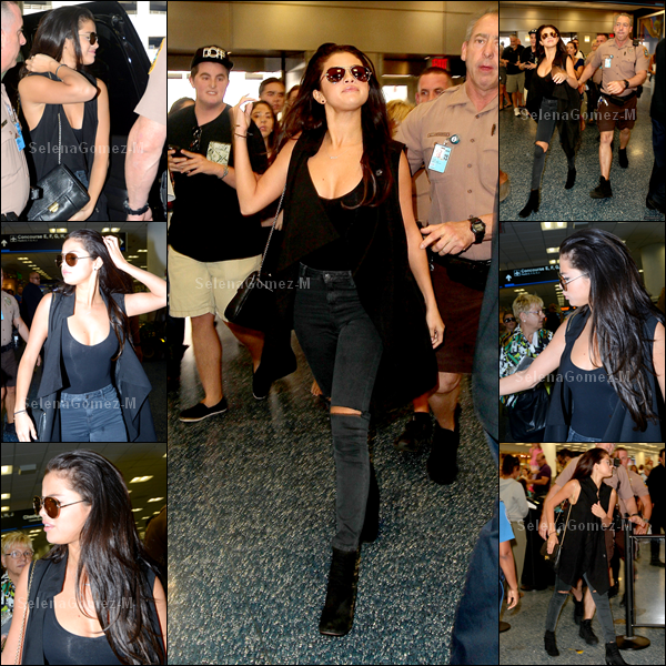 12.07.14 : Selena a d'abord été photographiée se promenant avec Harmony Korine dans les rues de Miami. TOP pour la miss, j'aime sa combi short. Et vous ?