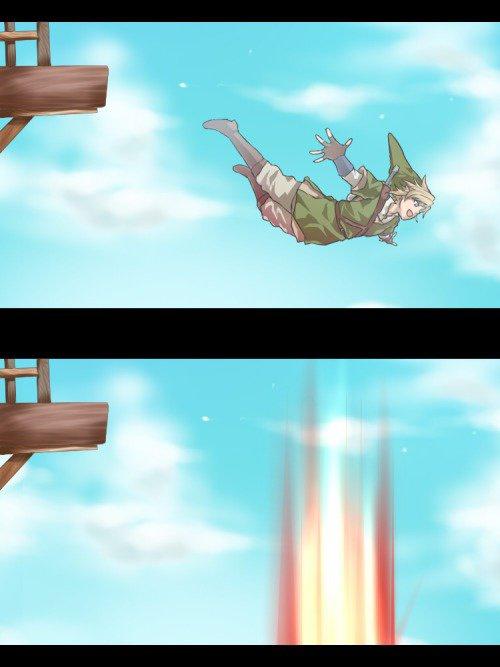 Quand link SS arrive dans Smash Bros...