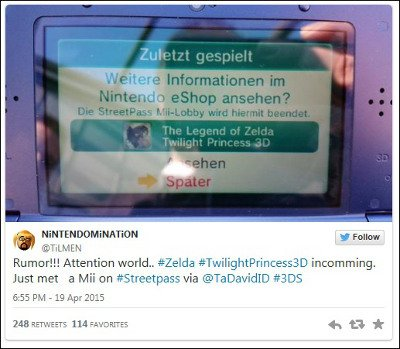 The Legend of Zelda : Twilight Princess 3D sur la New 3DS ?