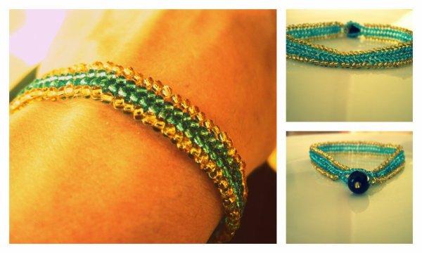 Bracelet herringbone, rocailles . . .