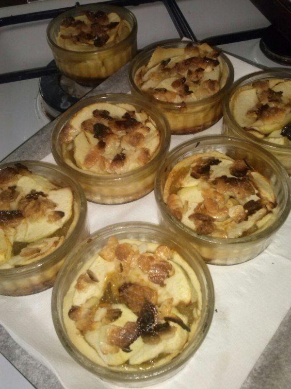 Tartelette aux pommes et amandes caramelisees
