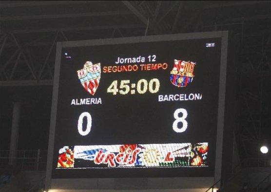 FC Barcelona - Almeria : Avec 8 points ou plus au Bernabeu