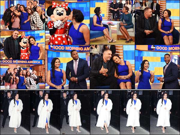 """"""" • 24/01/18   — Demi est allée parler de sa tournée sur le plateau de la célèbre émission « Good Mornin America »  à NYC !Dem' y a annoncé qu'il y aurait des séances de thérapie lors de son  « TMYLM Tour ». + Quelques photos quittant le plateau, un beau top.  """""""