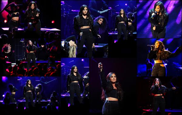 """"""" • 24/01/18   — Demi Lovato à donné un concert dans la salle « New York City Center » située dans Manhattan à New York.Comme elle l'avait fait à Paris il y'a quelques mois, Demetria est allée donner un petit show privé pour ses Lovatics NewYorkais, des avis ?  """""""