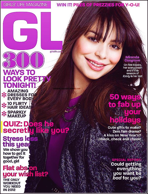 Miranda fait la couverture de Girls' Life magazine.