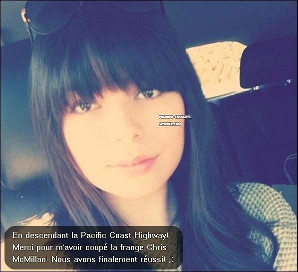 . Miranda à poster une photot sur son Facebook, Comme vous le voyer Miranda à faiit une franche ! Alors vous la préfères avec ou sans frange ? .