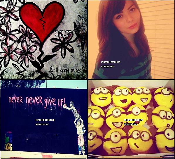 . Miranda à poster des photot sur son compte Twitter. .