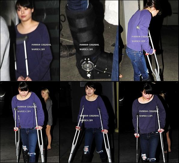 . 23/10/2011- Miranda à étais vue allent au théâtre Arclight..
