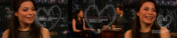 ". Miranda dans l'emission ""Late Night with""."