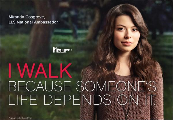 . Miranda est la nouvelle embassadrice de  Leukemia & Lymphoma Society's Light The Night Walk ..
