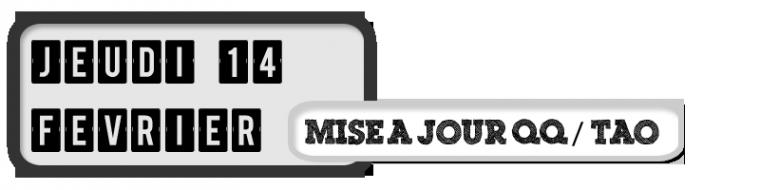 14/02/13 - Mise à jour avatar et statut QQ de Tao