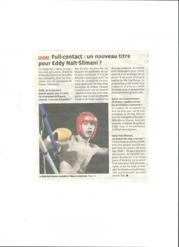 Un Nouveau titre pour Eddy Nait Slimani ?