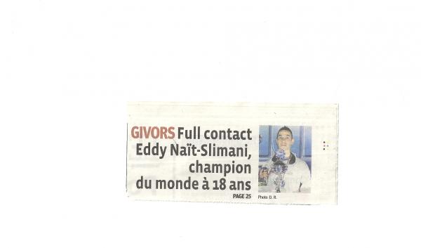 """"""" Eddy NAIT SLIMANI un combattant en or """""""
