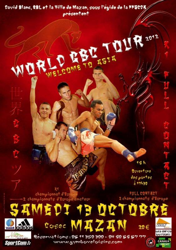 WORLD GBC TOUR SAMEDI 13 OCTOBRE 2012