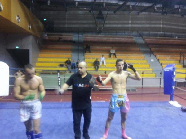 Vainqueur de la Coupe PACA de Kick Boxing