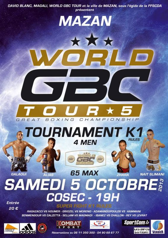 Affiche officielle World GBC Tour 2013 et Trailer