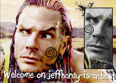 "-------------------------------------------------------------------JEFF HARDY ❤ ------------------------------------------------ Hardy monte sur la cage. Oh mon dieu ! Incroyable ! Dieu tout puissant. ""You want to know who I am. I'm Jeff Hardy""   Swanton Bomb ! L'ambitieu Jeff Hardy ,La passion incarné de la WWE. Jeff Hardy est au sommet du monde !  ---------------------------------------------------------------------------The most important"