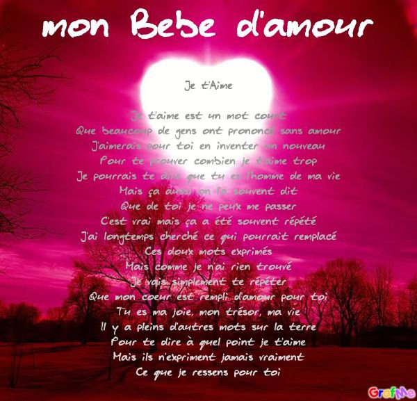 Poème Pour Mon Chéri Blog De Charlene Nico