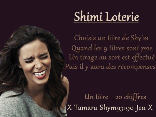 Shimi Loterie n°2 .