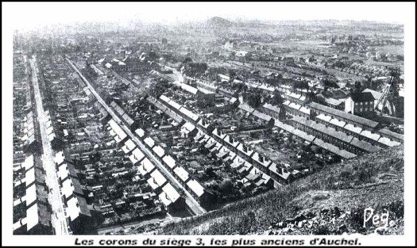 Auchel - Le coron (Cité du 3) il y a bien longtemps.