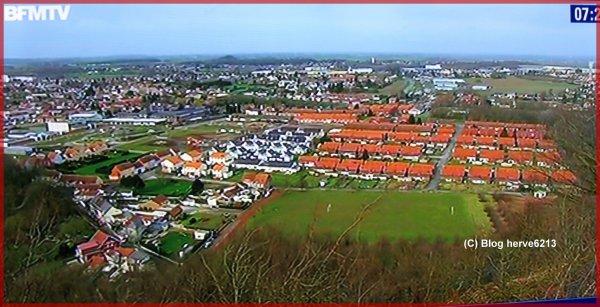 Auchel, vue aérienne, un état des lieux en janvier 2014