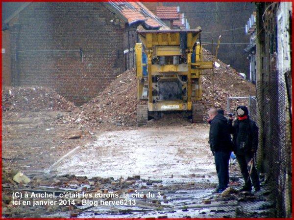 A Auchel, c'était les corons (Cité du 3 en janvier 2014)