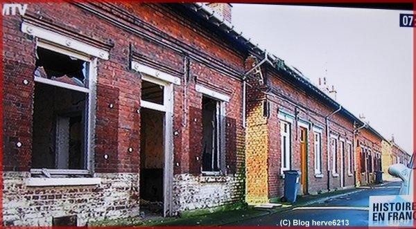 Auchel la cité du 3 en janvier 2014, tout n'a pas encore été détruit