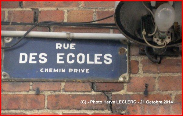 Plaque de rue - RUE DES ECOLES - coron - cité du 3 - AUCHEL 62