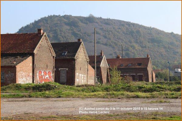 Terril et maisons minières Auchel (62) le 11 octobre 2015