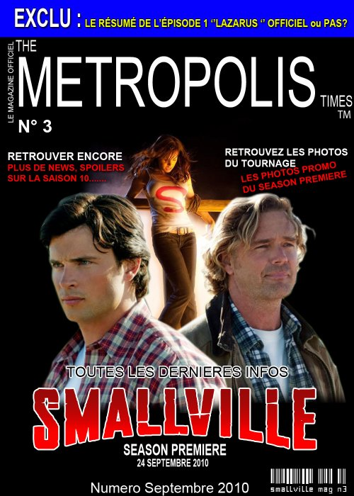 The Metropolis Times Magazine Septembre 2010 n°3 Couverture